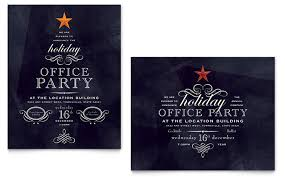 holiday party invitation template free blueklip com