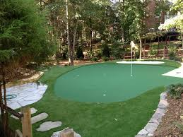 making putting green your backyard all for the garden house