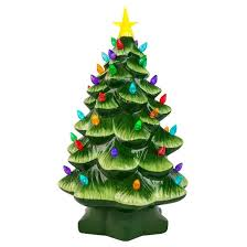 mr christmas mr christmas 14 ceramic decorative tree green target