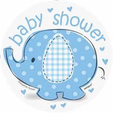 baby shower boy umbrellaphants blue mini cutouts for an elephant boy baby shower