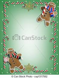 clip art of christmas cookies and candy border image and