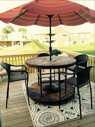 Patio Table With Umbrella Hole Outdoor Coffee Table With Umbrella Hole Design Roy Home Design