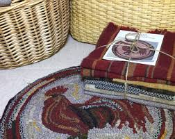 Round Rooster Rug Rooster Rug Etsy
