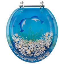 Decorative Toilet Seat Dolphin Design Std Round