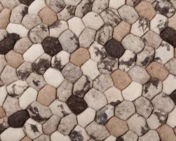 Pebble Stone Rug 90cm To 300cm Indian Stone Felted Rugs In Beige Brown Color Large