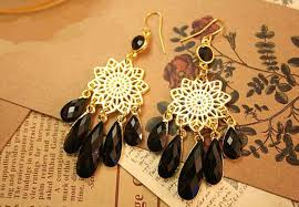 Costume Chandelier Earrings Black Chandelier Earrings For Wedding Inspiration Home Designs
