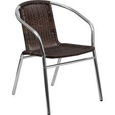 Aluminum Wicker Patio Furniture by Aluminum And Dark Brown Rattan Commercial Indoor Outdoor