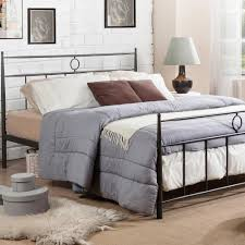 Queen Size Platform Bed South Shore Step One Queen Size Platform Bed In Pure Black 3070233