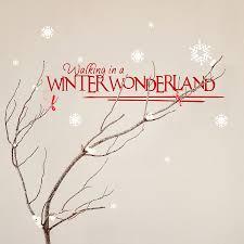 walking in a winter wonderland wall sticker by snuggledust christmas wall sticker