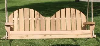 two seat adirondack cedar swing