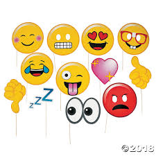 photo props emoji photo stick props