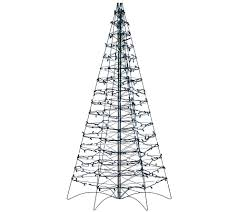 pre lit led 5 u0027 fold flat outdoor christmas tree by lori greiner