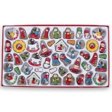 set of 48 santa claus snowman miniature