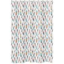 coral and mint mod arrow shower curtain free shipping on orders
