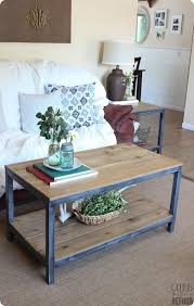 metal frame coffee table wood and metal frame coffee table