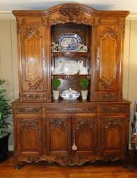 French Country Buffet And Hutch by Antique French Country Carved Oak Cupboard Buffet