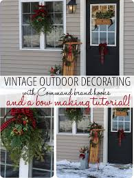 Outside Home Christmas Decorating Ideas Outdoor Vintage Christmas Decorating Ideas U0026 How To Make A Bow