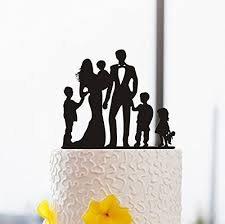 amazon com vintage anniversary cake toppers happy family