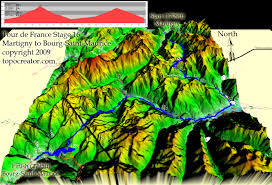Map Of Tour De France by Topocreator Create And Print Your Own Color Shaded Relief