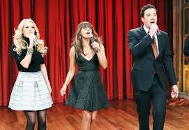 jimmy fallon carrie underwood and rashida jones put a