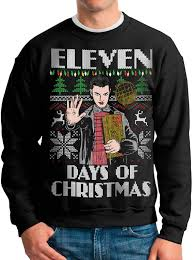 stranger things ugly christmas sweater eleven days of
