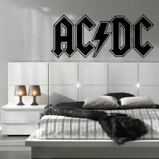 sticker wall decal picture more detailed picture about acdc ac acdc ac dc large kitchen bedroom wall mural giant art sticker decal matt vinyl wall stickers
