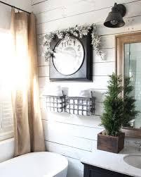 christmas bathroom the rustic boxwood shiplap white