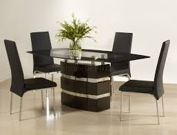 impressive black fabric dining chairs dining room metal base glass