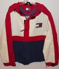 vintage hilfiger sweaters vintage 90s hilfiger logo fleece hooded pullover xl jacket 1