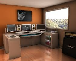 How To Build A Home Studio Desk by Interior Modern Style Home Music Studio Design With White