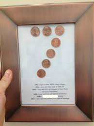 wedding anniversary gift ideas for a handmade 7th wedding anniversary gift on a budget using pennies