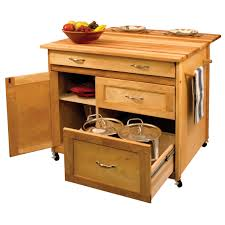 kitchen maple butcher block kitchen cart with drawer and cooking