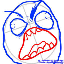 how to draw rage face rage face step by step characters pop