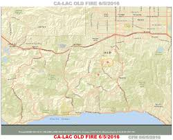 Los Angeles Street Map by Cfn California Fire News Cal Fire News Ca Lac Old Fire In