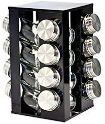 Contemporary Spice Racks Procook Contemporary Spice Rack 10 Jars With Spices Amazon Co Uk
