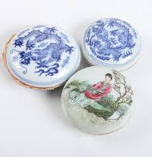 east asian style ceramic paint jars ebth