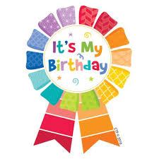 happy birthday ribbon happy birthday ribbon reward badges ctp1066
