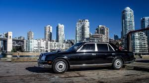 lexus toyota same company behind the wheel of the only v 12 toyota century in north america