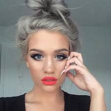 hairstyles for young women with gray hair granny hair trend young women are dyeing their hair gray hair