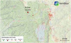 Reno Map In Progress Seismic Swarm West Of Reno Nevada Temblor Net