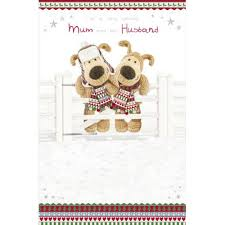 mum husband christmas card boofle merry christmas