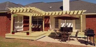 How To Build A Pergola On Concrete by How To Build A Pergola Shade Arbor For Your Yard Today U0027s Homeowner