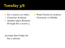 themes in othello act 1 scene 3 act 2 scene 3 othello ppt video online download