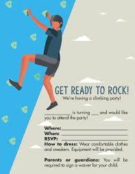 party invitations happy birthday free rock climbing birthday party invitations