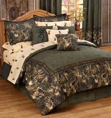 Unfinished Wood Headboards by Enchanting Bedding For Log Cabins Using Deer Art Print Also