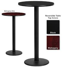 Black Bar Table Bar Height Hospitality Table Base Black Mahogany 24 X