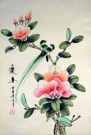 Japanese Flowers Paintings - 241 best chinese and japanese brush painting images on pinterest