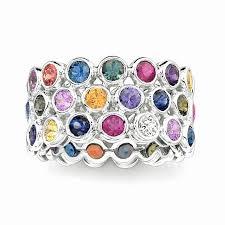 colored wedding rings images Multi colored stone wedding rings wedding gallery jpg