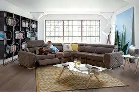 canapé en tissu design mozart canapé d angle avec relax en microfibre homesalons