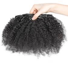 Yaki Clip In Human Hair Extensions by 16 32 Inch Brazilian Virgin Curly Clip In Human Hair